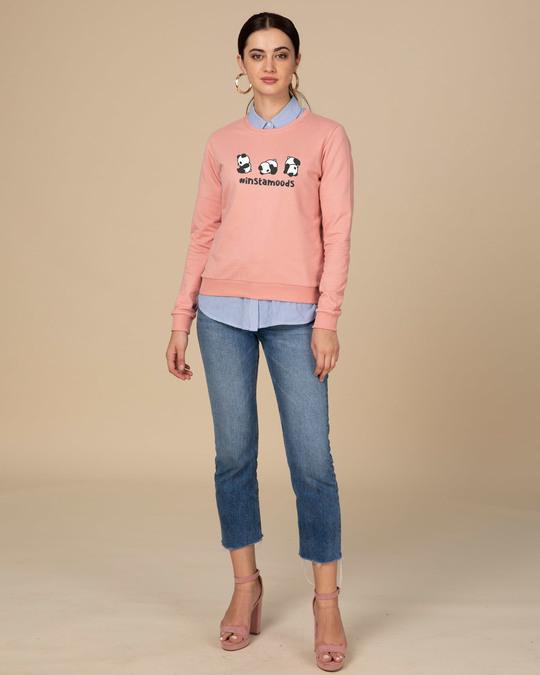 Shop #instamoods Fleece Light Sweatshirt-Design