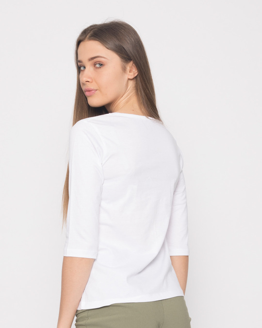 Shop #instamoods Round Neck 3/4th Sleeve T-Shirt-Back