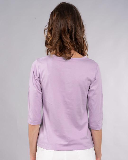 Shop #instamoods Round Neck 3/4th Sleeve T-Shirt-Back