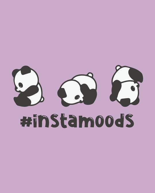 Shop #instamoods Round Neck 3/4th Sleeve T-Shirt-Full