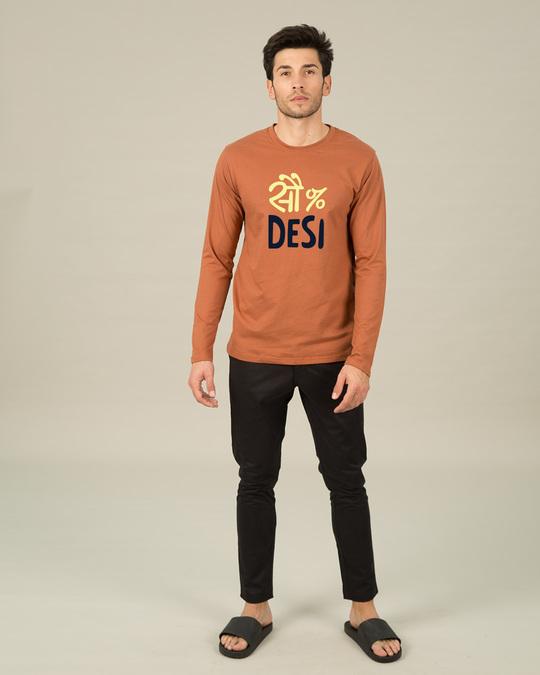 Shop 100% Desi Full Sleeve T-Shirt-Full