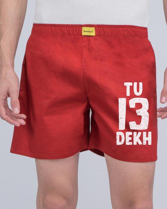 Shop 13 Tu Dekh Bhai Side Printed Boxer-Back