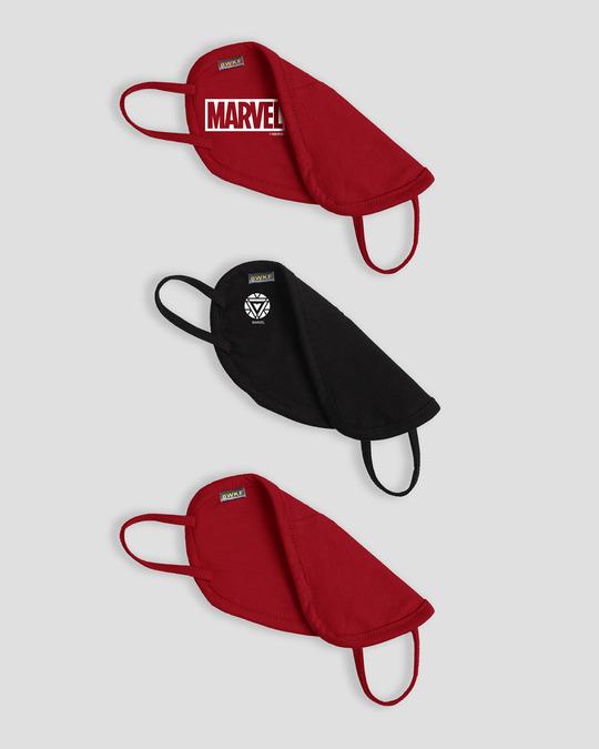 Shop 2-Layer Everyday Protective Mask - Pack of 3 (Logo Marvel! Tony Stark Sign! Avl Logo Everyday Mask)-Full