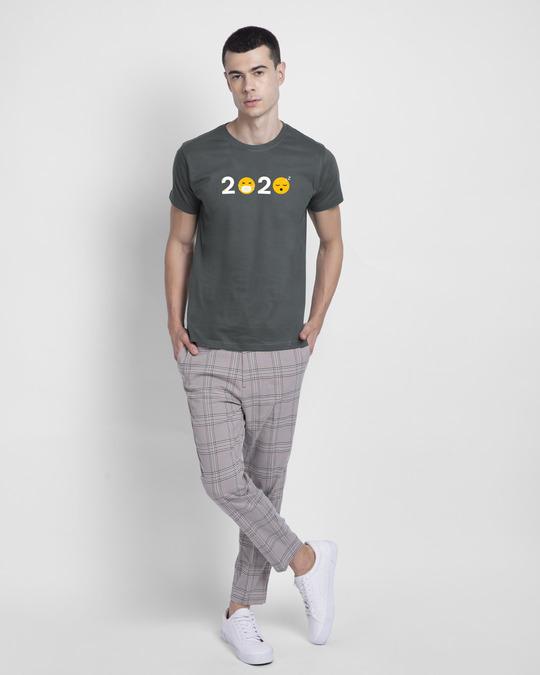 Shop 2020 Emojis Half Sleeve T-Shirt Nimbus Grey-Design