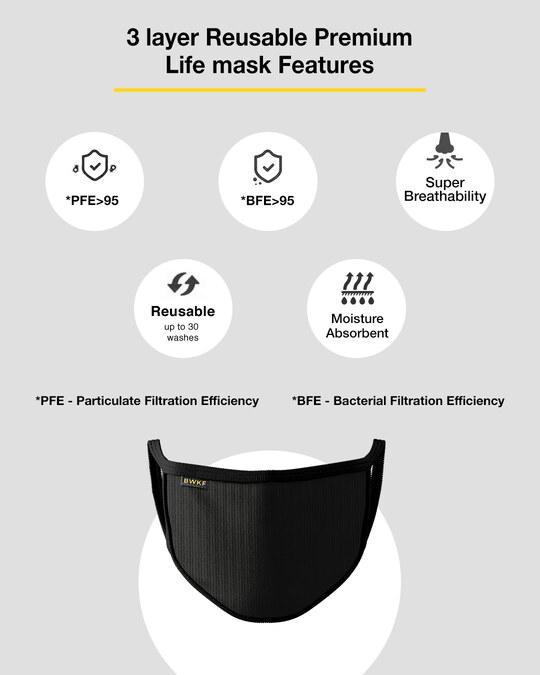 Shop 3 layer Premium Life Mask Combo of 3 (Meteor Grey)