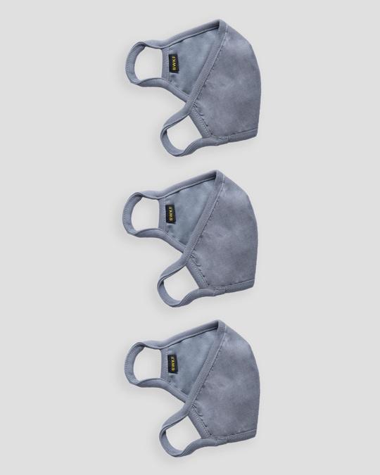 Shop 3 layer Premium Life Mask Combo of 3 (Meteor Grey)-Design