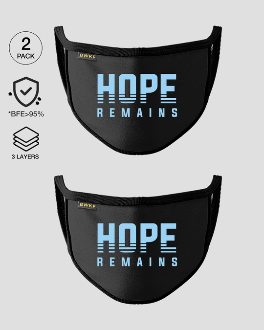 Shop 3-Layer Reusable Printed Life Mask-Pack of 2 (Hope Remains)-Front