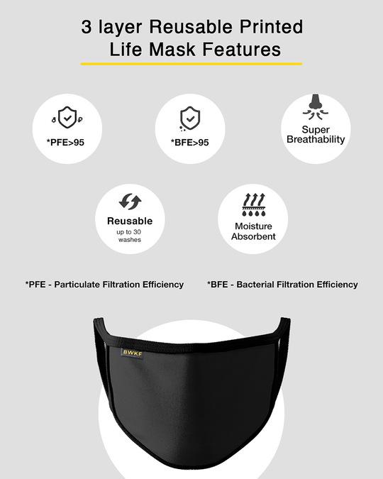 Shop 3-Layer Reusable Printed Life Mask-Pack of 3 (Skrlx Line)