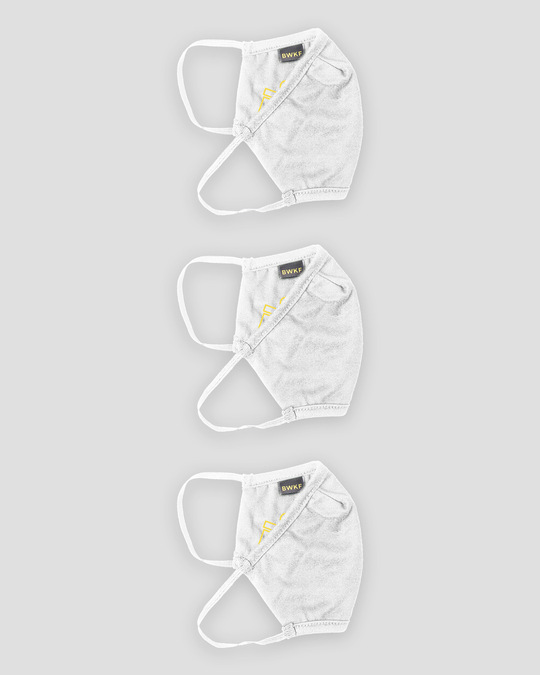 Shop 3-Layer Reusable Printed Life Mask-Pack of 3 (Stay Home)-White-Full