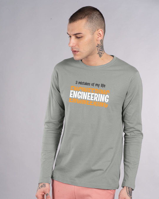 Shop 3 Mistakes Full Sleeve T-Shirt-Front