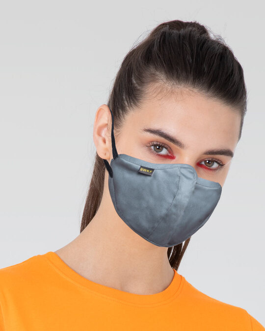 Shop 3 Panel Fashion Mask Combo of 3 (Sea Ice Blue)