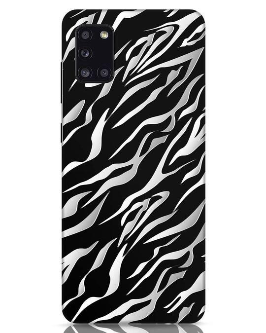 Shop 3d Zebra Print Samsung Galaxy A31 Mobile Cover-Front