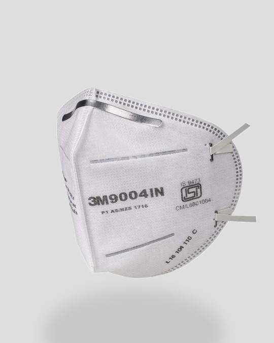 Shop 3M Folded Dust/Mist Respirator 9004IN Mask Pack of 3-Back