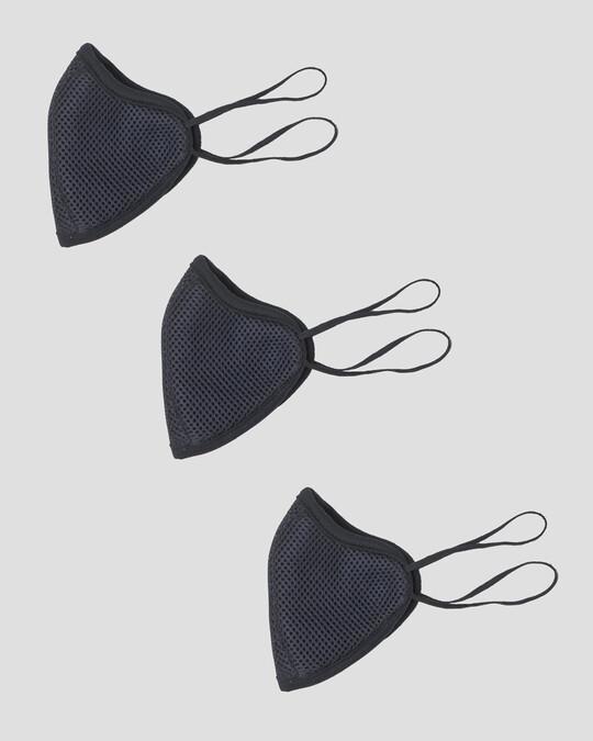 Shop 5-Layer Bewakoof N 95 Reusable Life Mask - Pack of 3 (Black)-Design