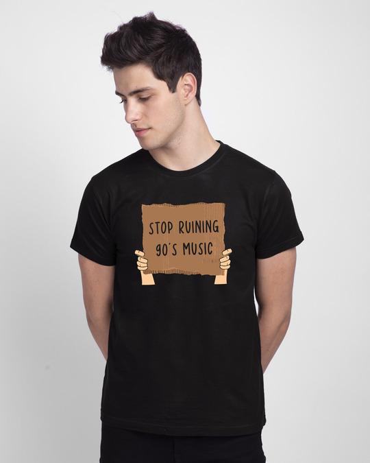Shop 90's Music Board Half Sleeve T-Shirt-Front