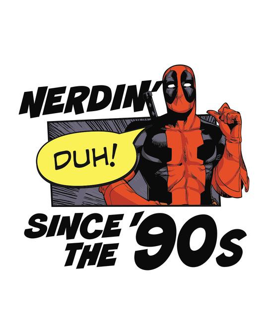 Shop 90s Deadpool Half Sleeve T-Shirt (DPL)