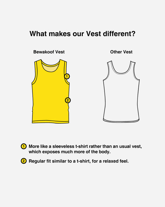 Shop Apna Vibe Alag Hai Vest-Design