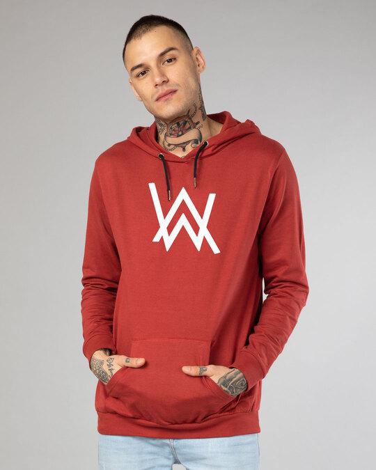 Shop A.W. Music Fleece Hoodie (GID)-Back