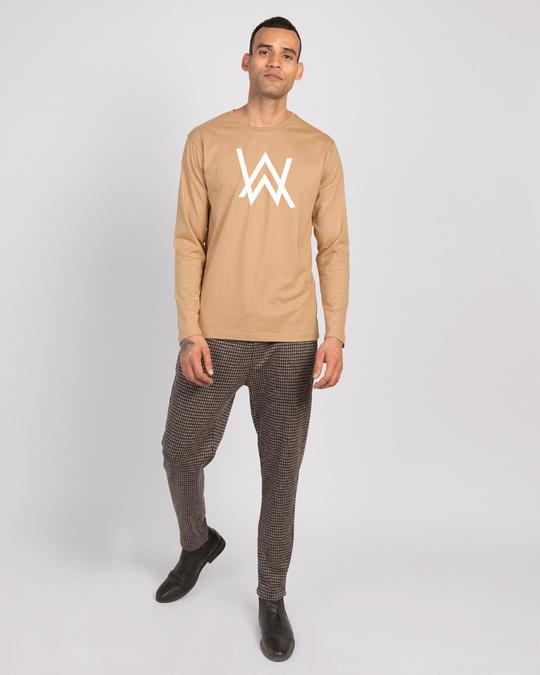 Shop A.W. Music Full Sleeve T-Shirt (GID) Dusty Beige-Full