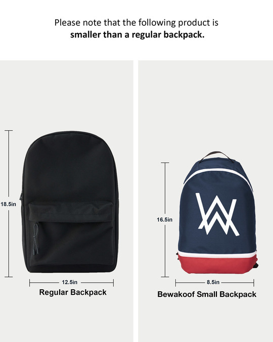 Shop A.W. Printed Small Backpack-Back