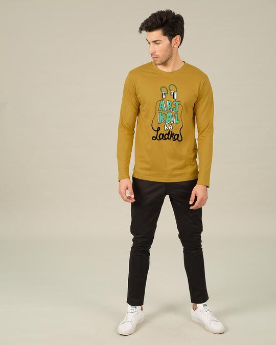 Shop Aaj Kal Ka Ladka Full Sleeve T-Shirt-Full