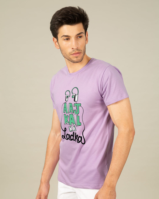 Shop Aaj Kal Ka Ladka Half Sleeve T-Shirt-Full