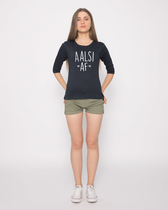 Shop Aalsi Af Round Neck 3/4th Sleeve T-Shirt-Full