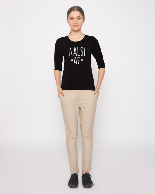Shop Aalsi Af Round Neck 3/4th Sleeve T-Shirt
