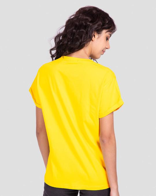 Shop Aalsu Boyfriend T-Shirt Pineapple Yellow-Back