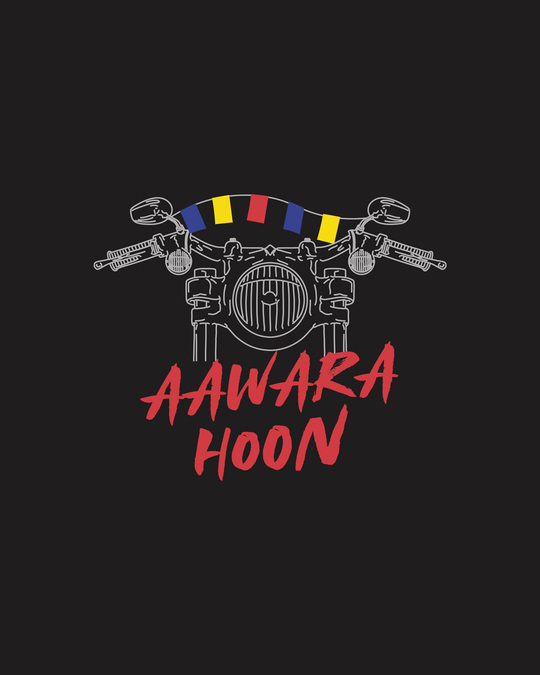 Shop Aawara Hoon Full Sleeve T-Shirts Black-Full
