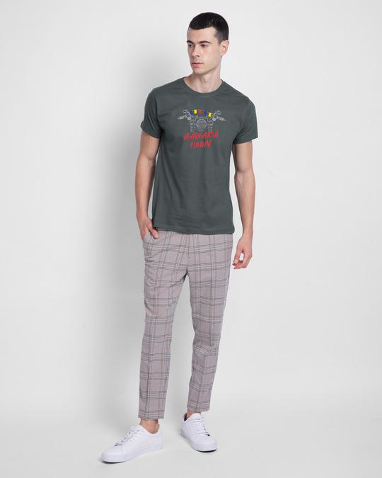Shop Aawara Hoon Half Sleeve T-Shirt Nimbus Grey-Design