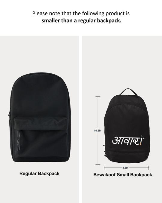 Shop Aawara Printed Small Backpack-Back