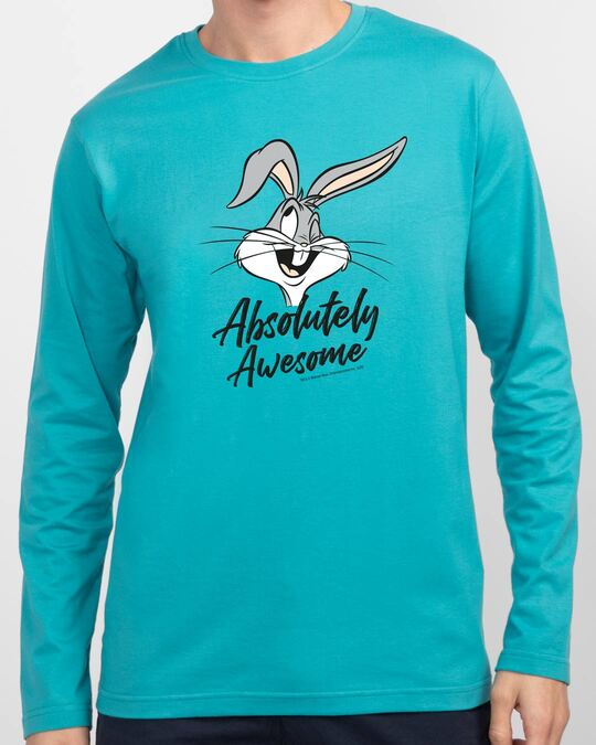 Shop Absolutely Awesome Bunny Full Sleeve T-Shirt-Front