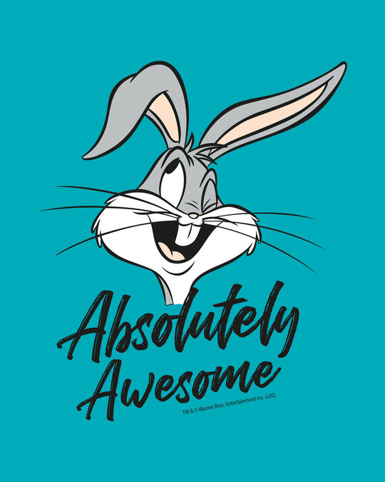Shop Absolutely Awesome Bunny Half Sleeve T-shirt-Full