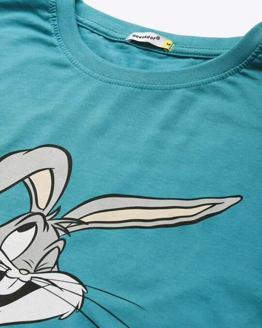 Shop Absolutely Awesome Bunny Half Sleeve T-shirt