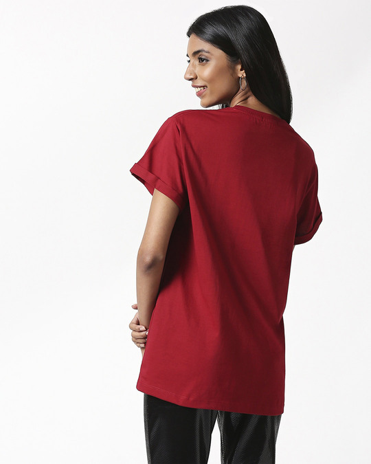 Shop Absolutely not Interested Boyfriend T-Shirts Cherry Red-Design