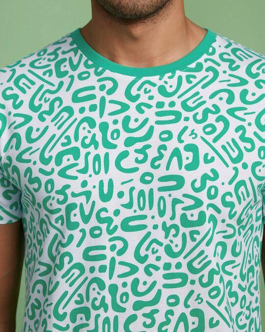 Shop Bubble Gum Abstract AOP Half Sleeve T-Shirt-Full