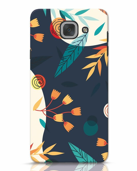 Shop Abstract Floral Samsung Galaxy J7 Max Mobile Cover-Front