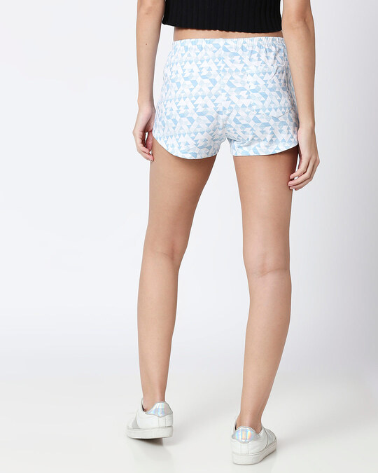 Shop Abstract Geometry White Knitted Boxers-Design