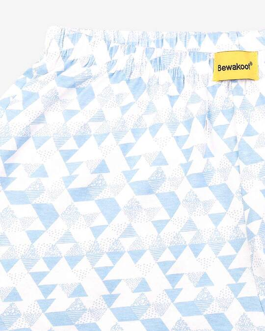 Shop Abstract Geometry White Knitted Boxers