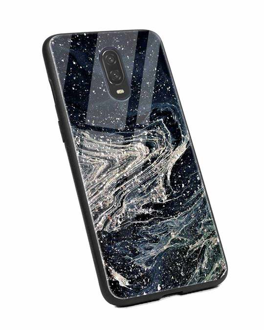 Shop Abstract Glitter OnePlus 6T Glass Mobile Cover-Back