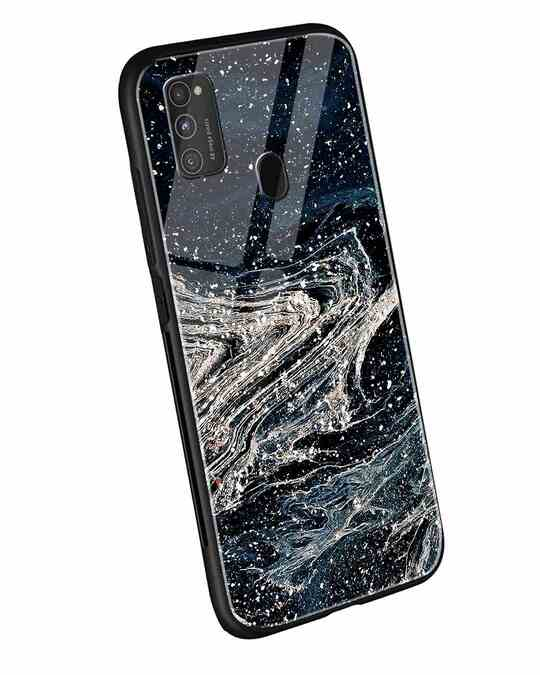 Shop Abstract Glitter Samsung Galaxy M21 Mobile Cover-Back