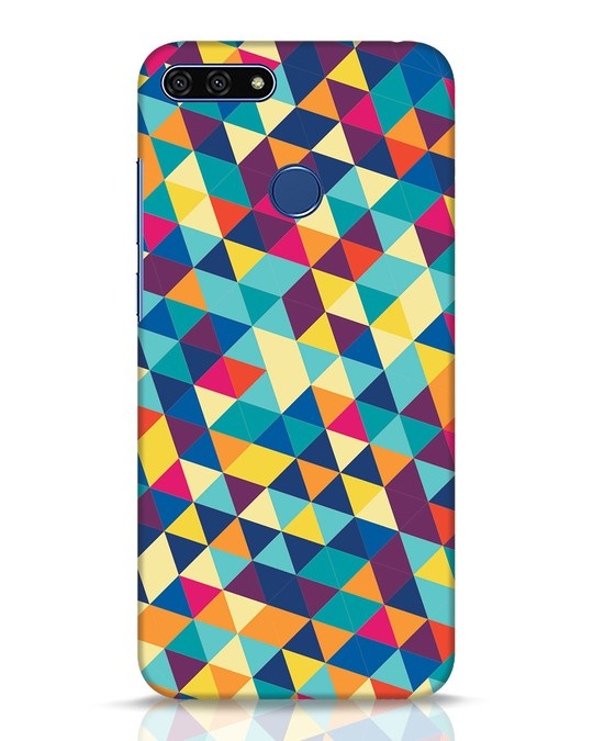 Shop Abstract Triangles Huawei Honor 7A Mobile Cover-Front