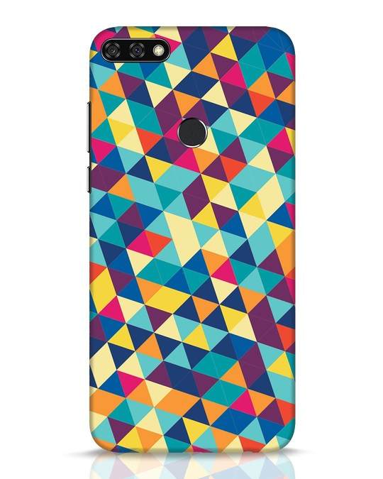 Shop Abstract Triangles Huawei Honor 7C Mobile Cover-Front