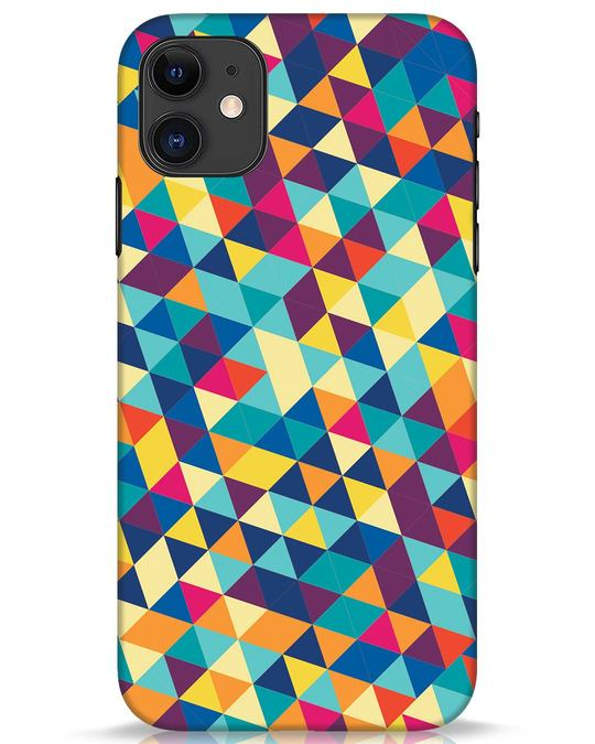 Shop Abstract Triangles iPhone 11 Mobile Cover-Front