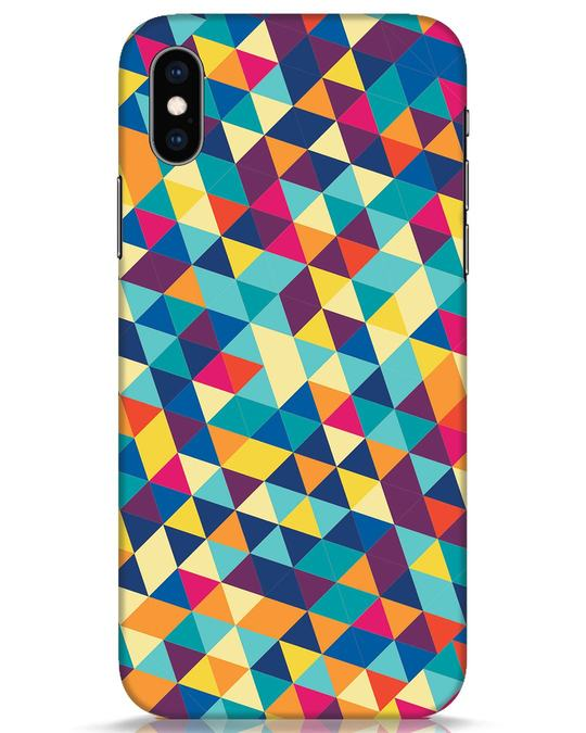 Shop Abstract Triangles iPhone XS Mobile Cover-Front