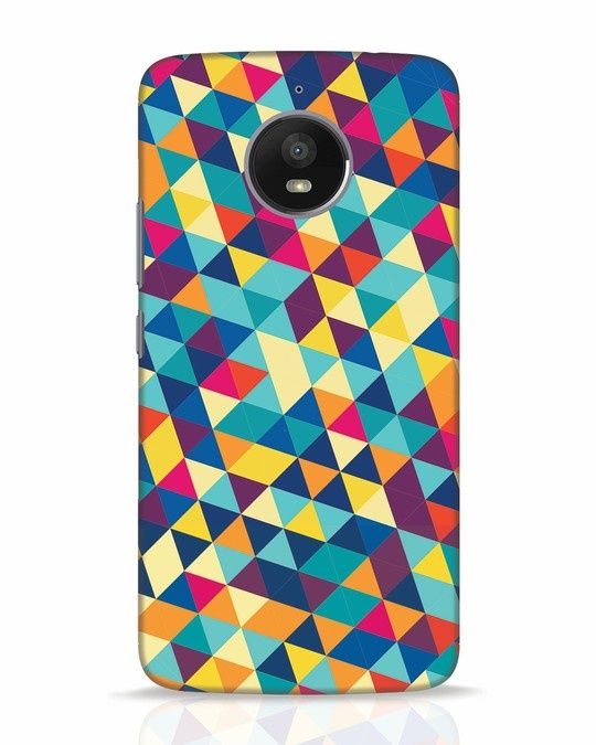 Shop Abstract Triangles Moto E4 Plus Mobile Cover-Front