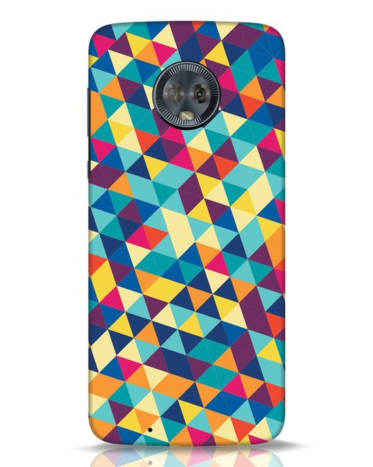 Shop Abstract Triangles Moto G6 Mobile Cover-Front
