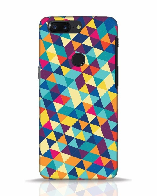 Shop Abstract Triangles OnePlus 5T Mobile Cover-Front
