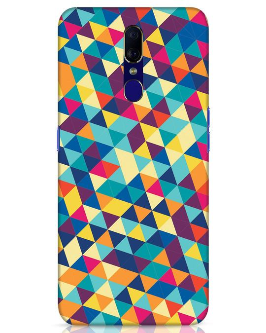 Shop Abstract Triangles Oppo F11 Mobile Cover-Front